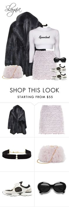 """Spoiled"" by slaynia ❤ liked on Polyvore featuring Diane Von Furstenberg, Balenciaga, Anissa Kermiche, Chanel and Acne Studios"