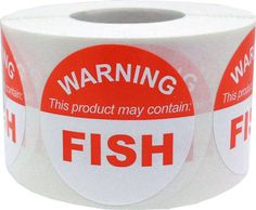 This Product May Contain FISH  Allergy Warning by TheDotSpotLane