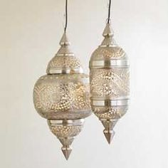 Silver Moroccan Hanging Lamp