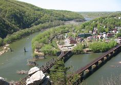 """Harpers Ferry - visited by George Washington (age 17) - T. Jefferson """"such a beautiful spot that it was worth a trip across the Atlantic"""", Lewis & Clarke expedition start, 1st r-road crossing of Potomac on 1st steel bridge, use of interchangeable parts was invented, John Brown raid - precipitated Civil War, 1st command of Stonewall Jackson, site of 3 Civil War battles, 1st academic college (Storer College) for freed slaves, retreat for 7 presidents & Mark Twain, most """"painted town"""" in…"""