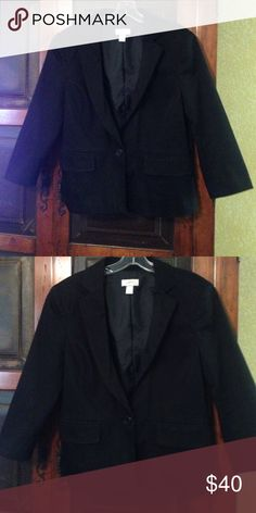 Loft Blazer Sophisticated black lined blazer// 98% cotton and 2% spandex LOFT Jackets & Coats Blazers