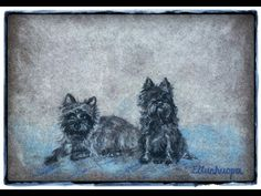 Custom Pet Portrait / dog painting / miniature dog painting / Dog Art from your photos by ELLUNHUOPA - YouTube