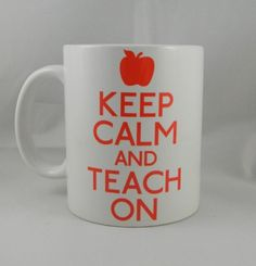 Keep Calm and Teach On Mug  Coffee Mug  Keep Calm Mug by TeeHabit, $13.99