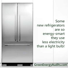 Some new refrigerators are so energy-smart they use less electricity than a light bulb!