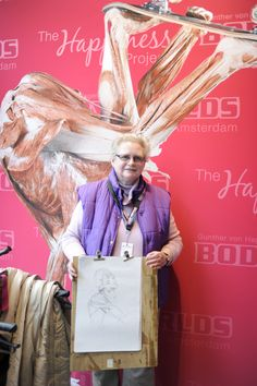 Mrs. Doorn-Stam @ the BODY WORLDS wall-of-fame  @ #BWArtistDay