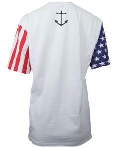 Delta Gamma Anchor American Flag Sleeves Tshirt by Adam Block Design | Custom Greek Apparel & Sorority Clothes | www.adamblockdesign.com