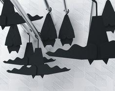 Bat Hangers by Veronika Paluchova N Project, Clothes Hangers, Night Creatures, Dark Places, Gothic Aesthetic, Batu, Black Furniture, Bat Wings, Nerdy