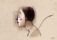 """The mask"" Digital sketch Riccardo Guasco 2014"
