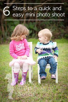 Узнай, как легко и просто устроить удачную мини фото-сессию с детьми за 6 простых шагов. Есть 10-15 минут свободного времени и фотоаппарат под рукой? Воспользуйся простым руководством где и как фотографировать детей, как не почувствовать разочарования от завышенных ожиданий, как построить взаимодействие с детьми и между детьми во время фотосъемки.