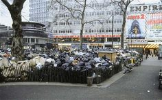 Rubbish mounts up in Leicester Square during the 1979 dustmen's strike. Photo: Eugene Adebari / Rex Features Seasons In The Sun, Leicester Square, Battle Of Britain, London Calling, British History, Empire, Street View, England, Culture