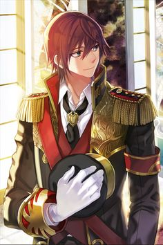 No larger size available Hot Anime Boy, Anime Sexy, I Love Anime, Anime Boys, Anime Military, Military Art, Military Outfits, Anime Fantasy, Anime Red Hair
