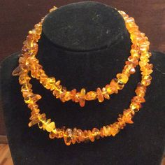 Vintage Natural Raw Baltic Amber 28 Necklace   Hand