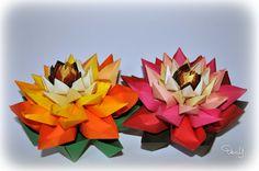 Alcachofras com miolo de Flor de Lotus - Origami