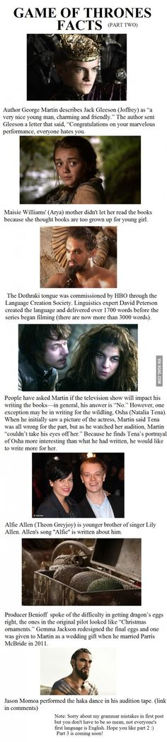 Game of Thrones Facts Part 2