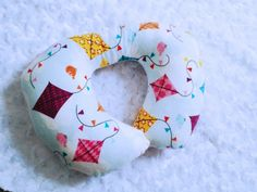 Kites And Blue Skies Travel Neck Pillow Baby by Happynightowls
