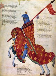Knight Of Prato, 14th C Painting - Knight Of Prato, 14th C Fine Art Print