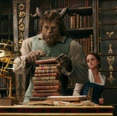Beast & Belle. Books, books and more books!