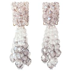love, a bit of MOD holiday party sparkle +/or fab gift idea... c.1960's Coppola e Toppo 'Crystal' Drop Earrings... Made in Italy