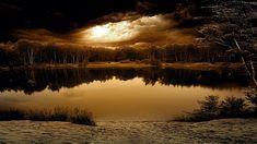 Tormenta sobre el lago. Fotografia manipulada by ThePwn3r y depositada en Deviant Art.