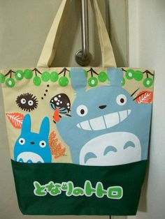 New Kawaii Studio Ghibli New My Neighbor Totoro Canvas Shoulder Bag Cute Bag Totoro Backpack, Backpack Bags, Big Tote Bags, Hello Kitty Items, My Neighbor Totoro, The Little Prince, Japanese Street Fashion, Canvas Shoulder Bag, Kawaii