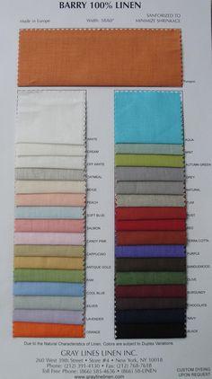 Grey Line Linen, great resource for inexpensive fabrics