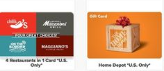 OMGsh, we have gift cards too.  WOW.  We truly are a one stop shop.