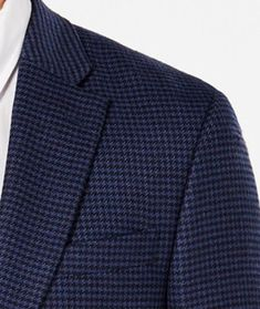a6e5f0ca4 Extra Off Coupon So Cheap Tommy Hilfiger Blazer Men Wool Suit Jacket Size  Navy Houndstooth Coat