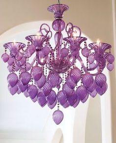 Purple chandelier. Lust.