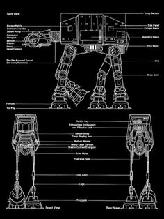 Addict has put together another series paying tribut to Star Wars. This latest featuring the technical blueprints to the iconic vehicles of the Star Wars t Star Wars Ships, Star Wars Art, Star Trek, Blender 3d, Decoracion Star Wars, V Wings, Film Science Fiction, Nave Star Wars, Star Wars Vehicles