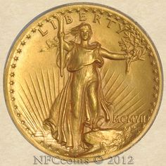 1907 Twenty Dollar Gold High Relief MS63 PCGS ~ CAC, obverse