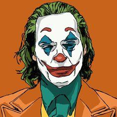 Joaquin Phoenix as the Joker in 'Joker' . Joker Sketch, Joker Drawings, Joker Painting, Joker Pop, Batman Art, Joker Batman, Pop Art Wallpaper, Japanese Drawings, Joker Wallpapers