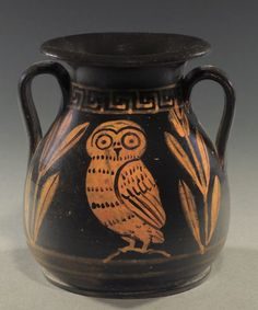 Совы и совята   Древнегреческая керамика