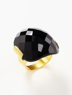 Kanupriya, black onyx ring