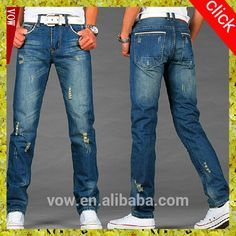 2016 OEM latest design ripped men jeans,fashion high quality straight jeans,unique wash tight men jeans trousers for wholesale