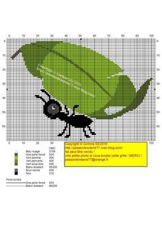 Feuille Cross Stitch Charts, Cross Stitch Patterns, Bordado Tipo Chicken Scratch, Corner To Corner Crochet Pattern, Ant Crafts, Pet Organization, Canvas Designs, Knitting Charts, Animal Decor