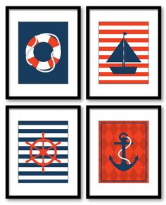 Nautical Nursery Wall Decor nautical nursery wall art ocean decor boat whale print kids room