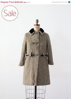SALE vintage tweed coat / winter coat