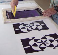 Gunnel Hag with a Screen Printing Tutorial