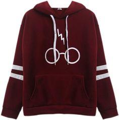 84219019a5 XFentech Mujeres Sudaderas con Capucha Tops Varsity Gafas de Harry Potter  Manga Larga Encapuchado Camisa Camisetas, 4 Colores: Amazon.com.mx: Ropa,  ...