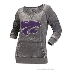 Gear Kansas State Wildcats Juniors Logo Crew Sweatshirt