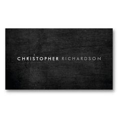 MODERN BLACK WOOD Customizable Business Card Template