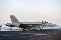 "ARABIAN GULF (Feb. 2, 2016) An F/A-18E Super Hornet, assigned to the ""Pukin' Dogs"" of Strike Fighter Squadron (VFA) 143, launches from the flight deck of aircraft carrier USS Harry S. Truman (CVN 75). Harry S. Truman Carrier Strike Group is deployed in support of Operation Inherent Resolve, maritime security operations, and theater security cooperation efforts in the U.S. 5th Fleet area of operations. (U.S. Navy photo by Mass Communication Specialist Seaman Lindsay A. Preston/Released)"