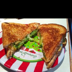 Broccoli (Chopped up in magic bullet), avocado grilled cheese sandwich! Yummm!