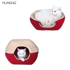 MUMENG Foldable 2 in 1 Cat Cave and House, Versatile Cat House, Warm Cat bed, Dog Kennel for Small dogs (S) >>> Find out more about the great product at the image link. (This is an affiliate link)
