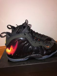 innovative design 425f3 6355b nike foamposite little posite one qs halloween size 6Y  fashion  clothing   shoes