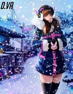 D.VA Christmas holidays by Laurart88.deviantart.com on @DeviantArt - More at https://pinterest.com/supergirlsart #dva #overwatch #fanart