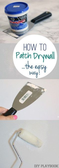 Get rid of wall holes for good with this simple tutorial. Here's the easy way to patch drywall.a definitely DIY project. simple home diy How to Patch a Hole in Your Wall: Step by Step Tutorial Home Improvement Loans, Home Improvement Projects, Home Projects, Outdoor Cabana, Home Renovation, How To Patch Drywall, Drywall Repair, Patching Drywall, Fixing Drywall Holes