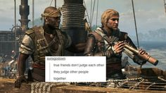 Adewale and edward humor assassins creed black flag