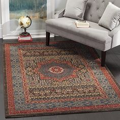 Safavieh Mahal Collection MAH620C Traditional Oriental Navy and Red Area Rug 3 x 5 *** See this great product.