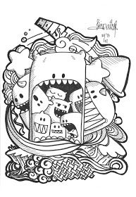 382 best Doodle & Monster Coloring Pages images on Pinterest ...